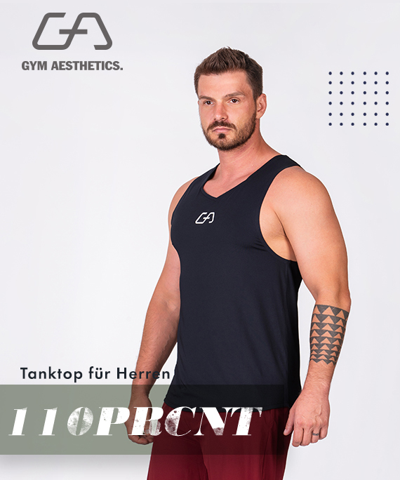 Wesentlich Gym Tank Top für Herren in Schwarz | Gym Aesthetics