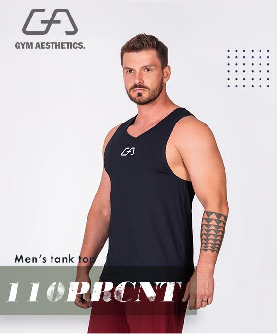 Essential Gym Tank Tops for Men in Sun Red | Gym Aesthetics