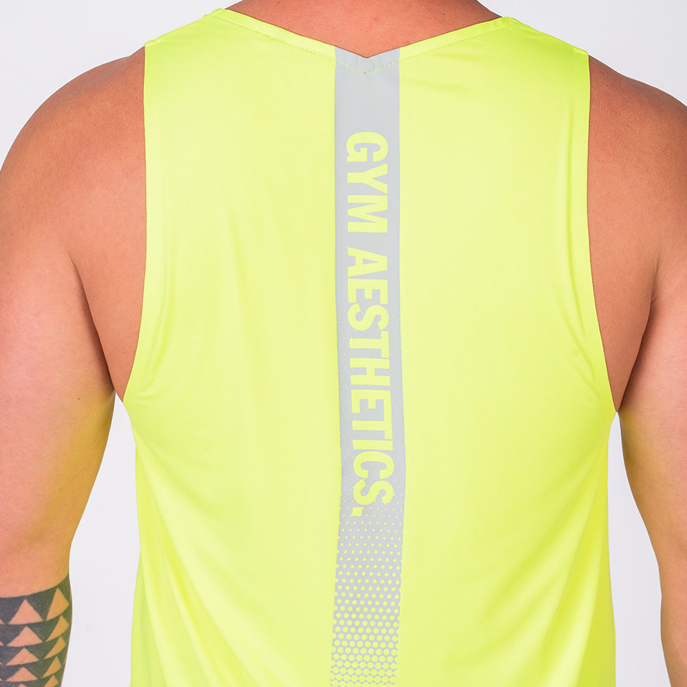 Essential Gym Tank Tops for Men in Safety Yellow | Gym Aesthetics