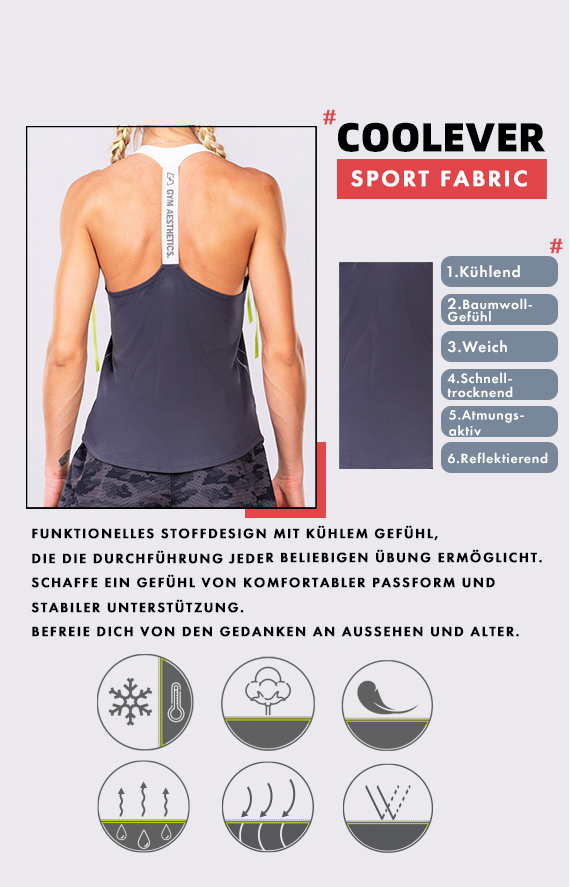 Aktivkleidung Cotton Touch Tank Top Y-Back für Damen in Rosa | Gym Aesthetics