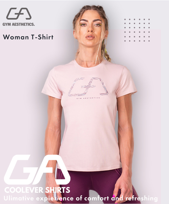 Activewear Cotton Touch Loose-Fit T-Shirt for Women in Pink | Gym Aesthetics
