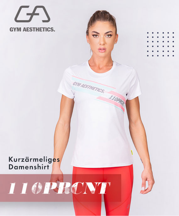 Aktivkleidung 110PRCNT Tight-Fit T-Shirt für Damen in Weiß | Gym Aesthetics