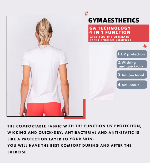 Activewear 110PRCNT Tight-Fit T-Shirt for Women in White | Gym Aesthetics