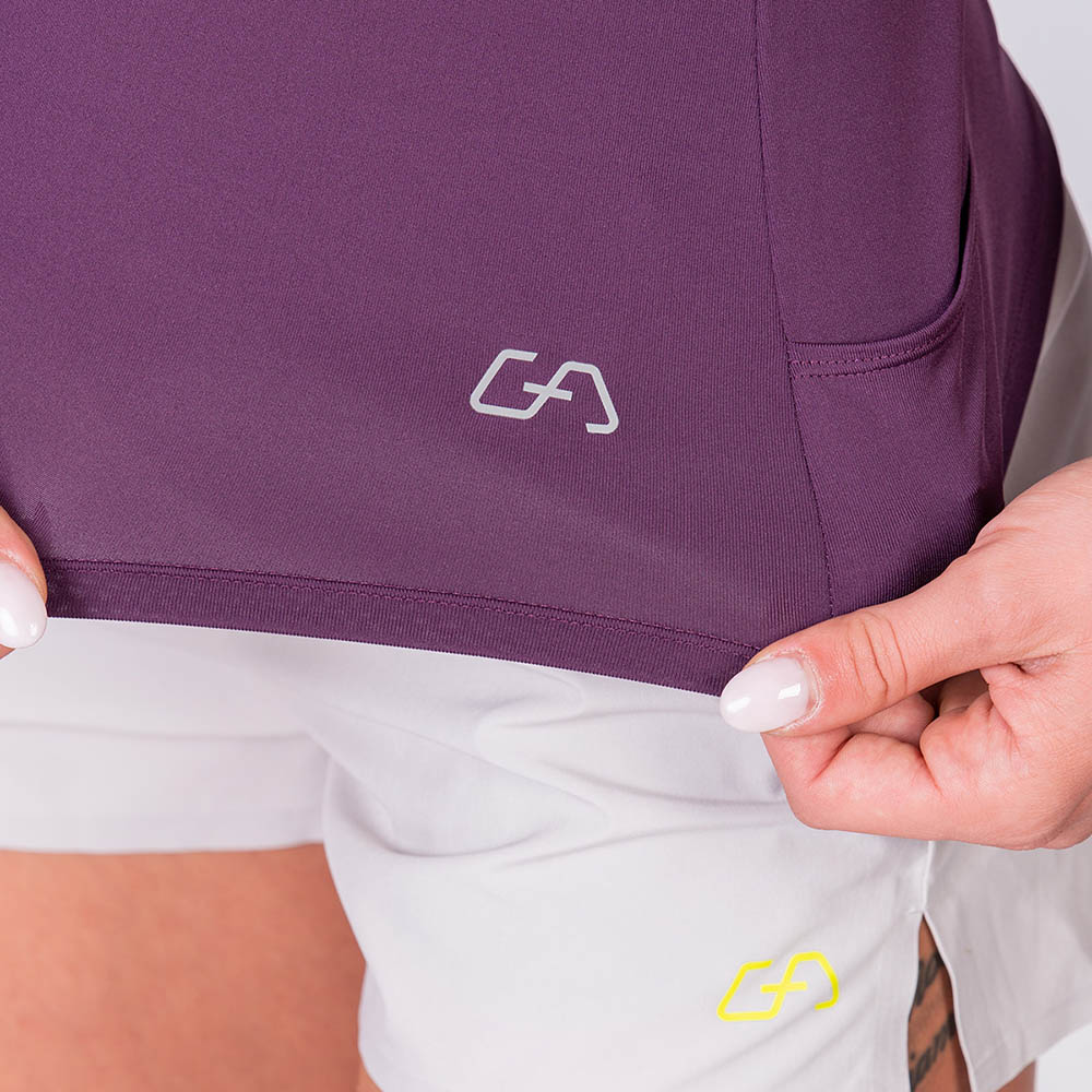 Athleisure Cold shoulder Fashion T-Shirt for Women in Purple | Gym Aesthetics
