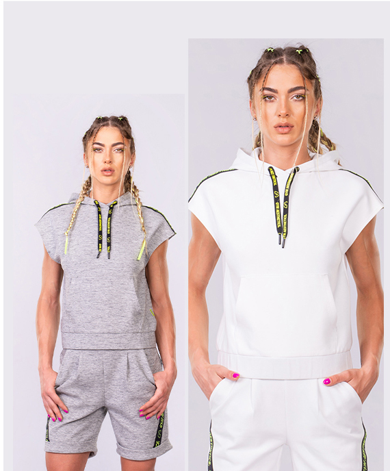 Athleisure Trendy Hoodie for Women in White | Gym Aesthetics