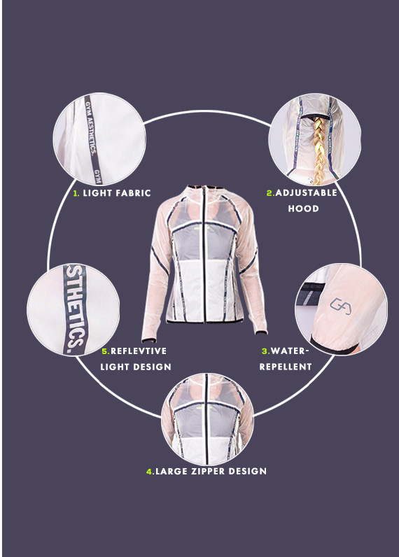 Athleisure Transparency Jacket for Women in White | Gym Aesthetics