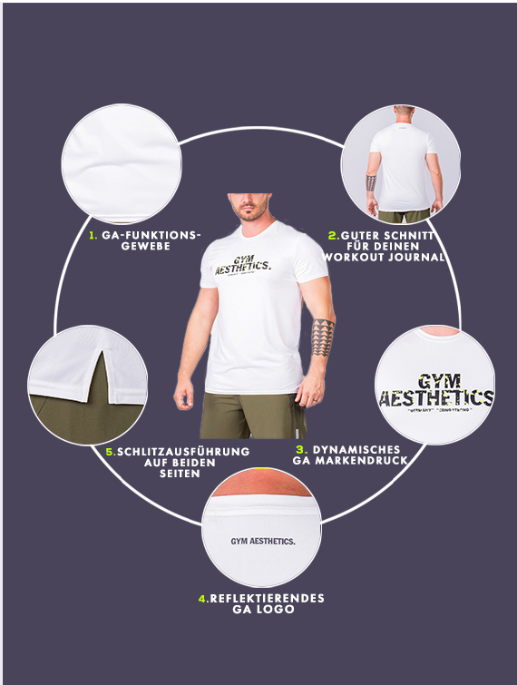 Wesentlich Loose-Fit T-Shirt für Herren in Aqua | Gym Aesthetics