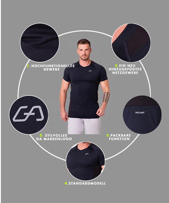 Wesentlich Packbar Loose-Fit T-Shirt für Herren in Sicherheitsgelb | Gym Aesthetics
