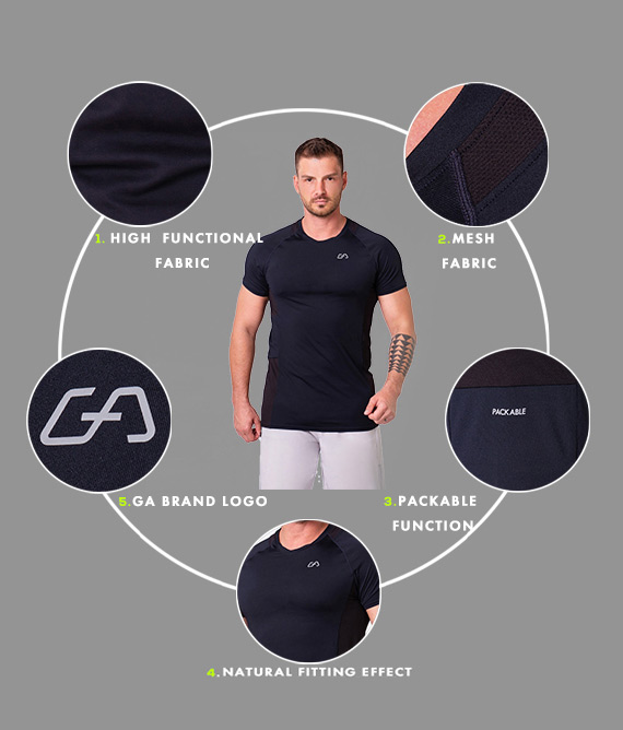Essential Packable Loose-Fit T-Shirt for Men in Black | Gym Aesthetics
