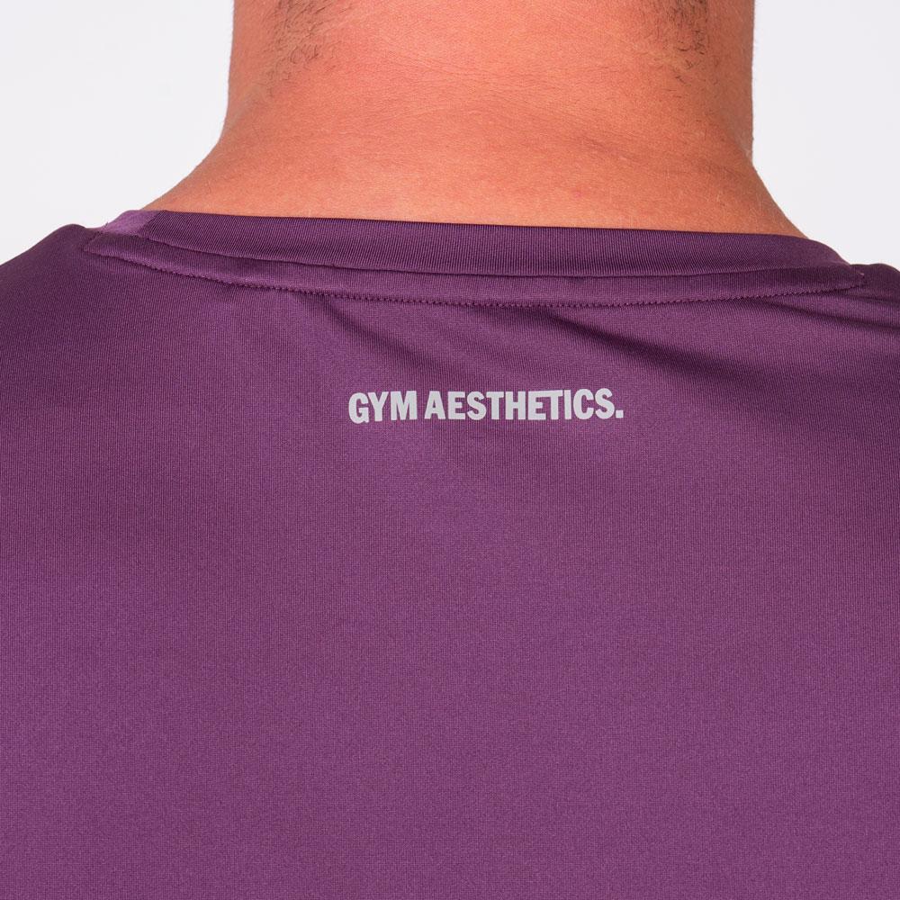 Essential Fancy Logo Loose-Fit T-Shirt for Men in Purple   Gym Aesthetics
