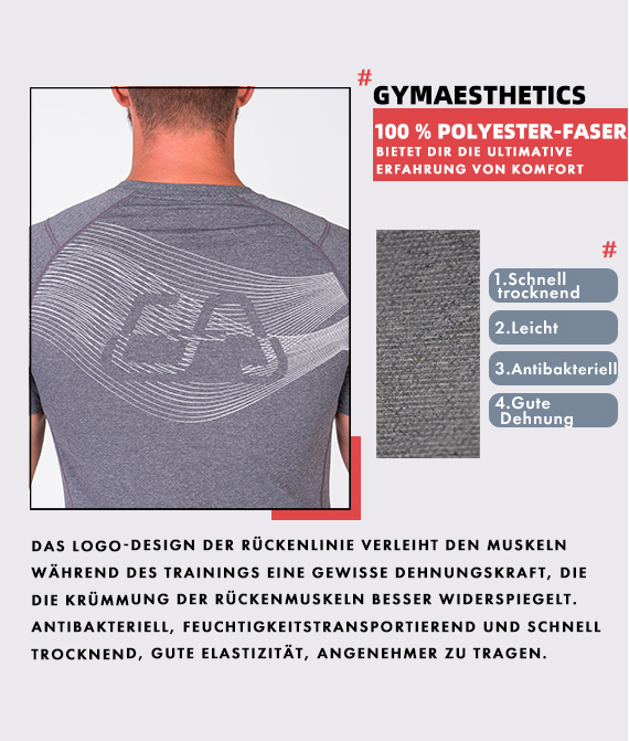 Wesentlich Leicht Loose-Fit T-Shirt für Herren in Blau   Gym Aesthetics