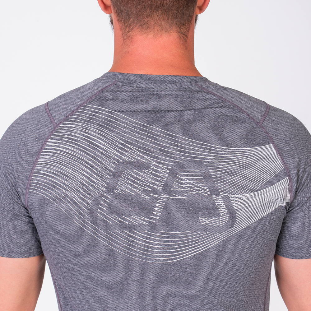 Essential Light Weight Loose-Fit T-Shirt for Men in Melange Grey | Gym Aesthetics