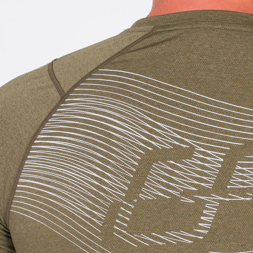 Essential Light Weight Loose-Fit T-Shirt for Men in Olive | Gym Aesthetics