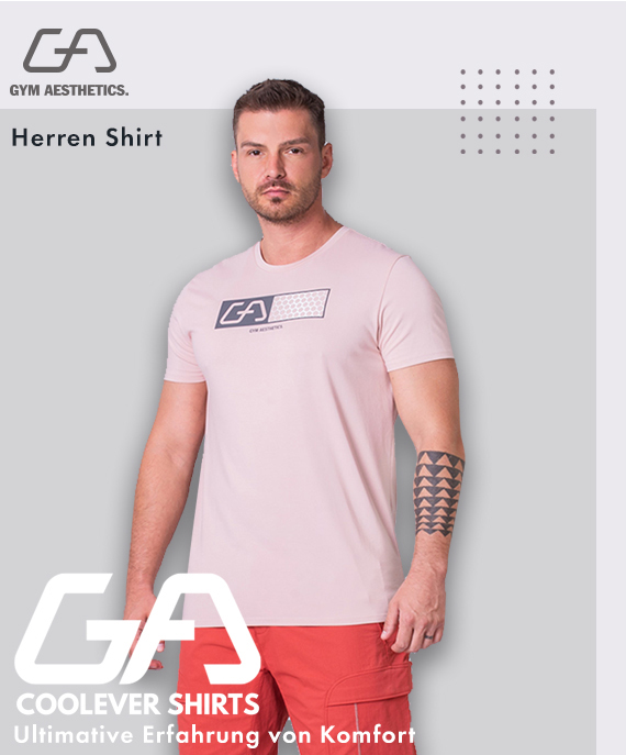 Wesentlich Cotton Touch Loose-Fit T-Shirt für Herren in Rosa | Gym Aesthetics
