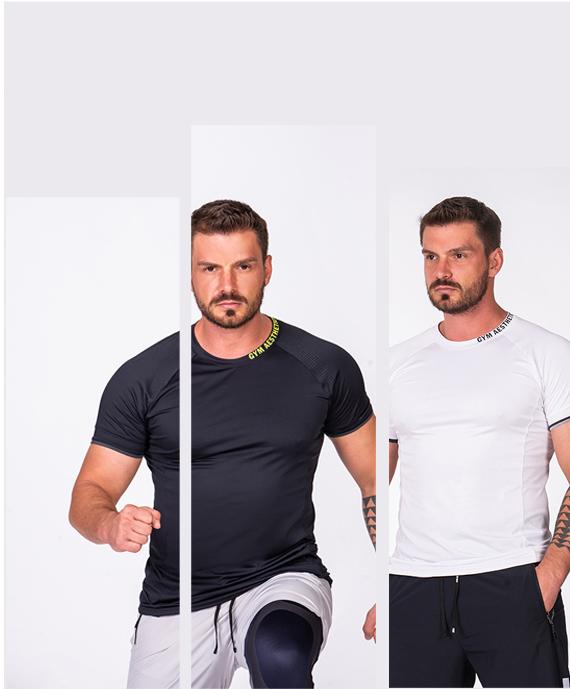 Essential Workout Sport Shirt for Men in Black | Gym Aesthetics