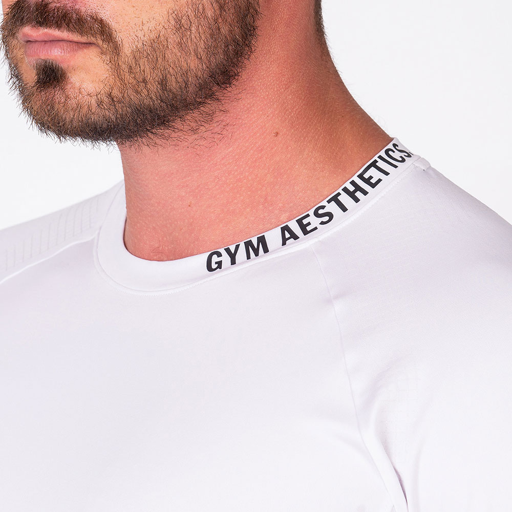 Essential Workout Sport Shirt for Men in White | Gym Aesthetics