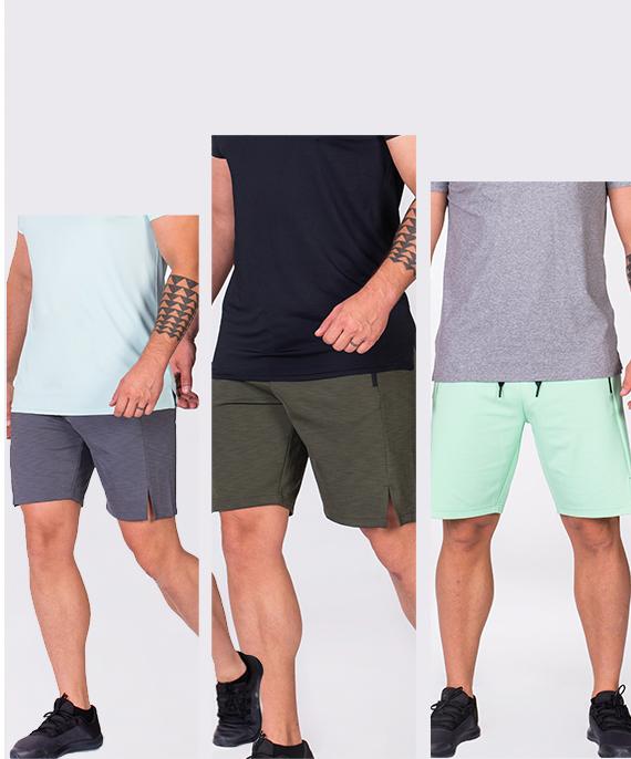 Wesentlich Techno 9 inch Shorts für Herren in Aqua | Gym Aesthetics