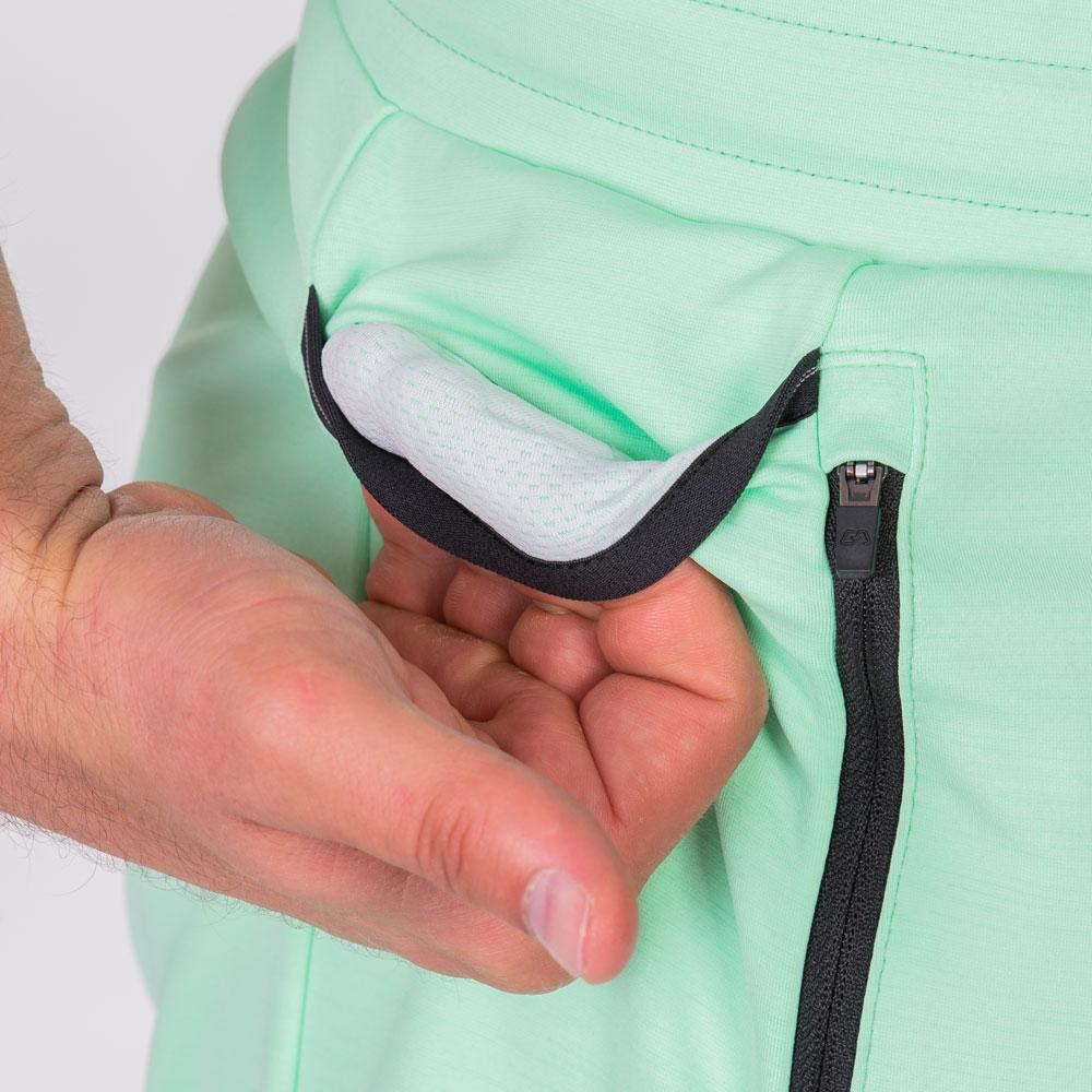 Essential Techno 9 inch Shorts for Men in Aqua | Gym Aesthetics