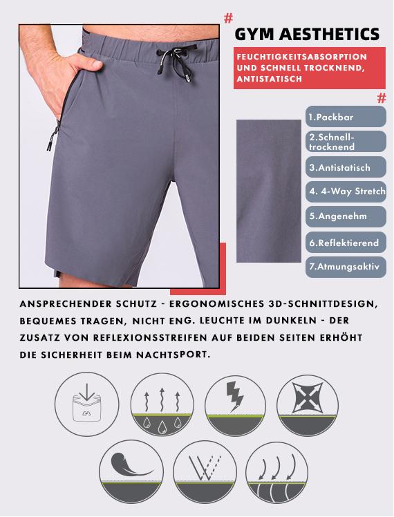 Wesentlich 9 inch Shorts für Herren in Lila | Gym Aesthetics