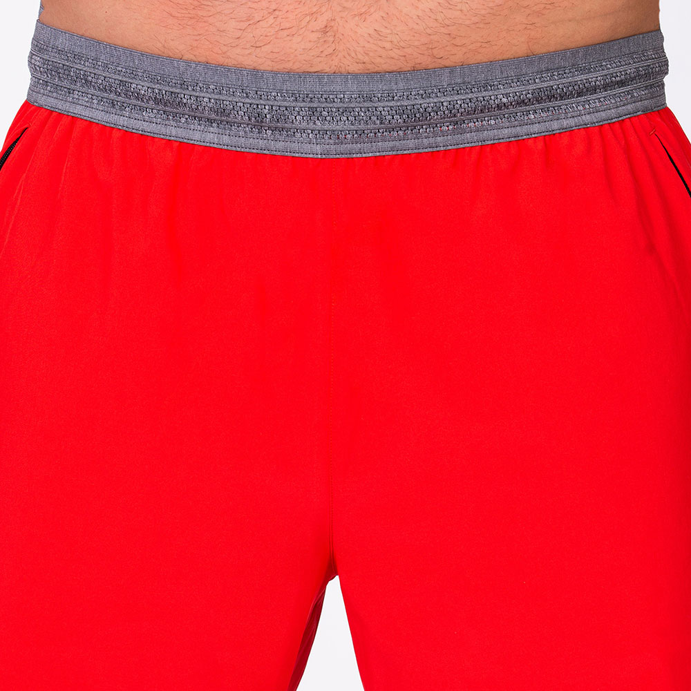 Essential Legend 9 inch Shorts for Men in Sun Red | Gym Aesthetics