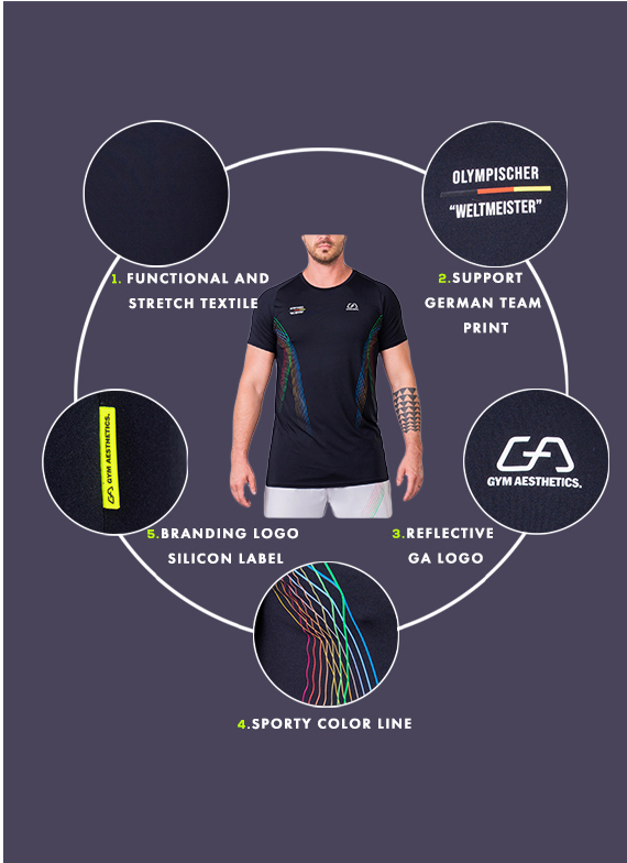 Essential Warrior Loose-Fit T-Shirt for Men in Black | Gym Aesthetics