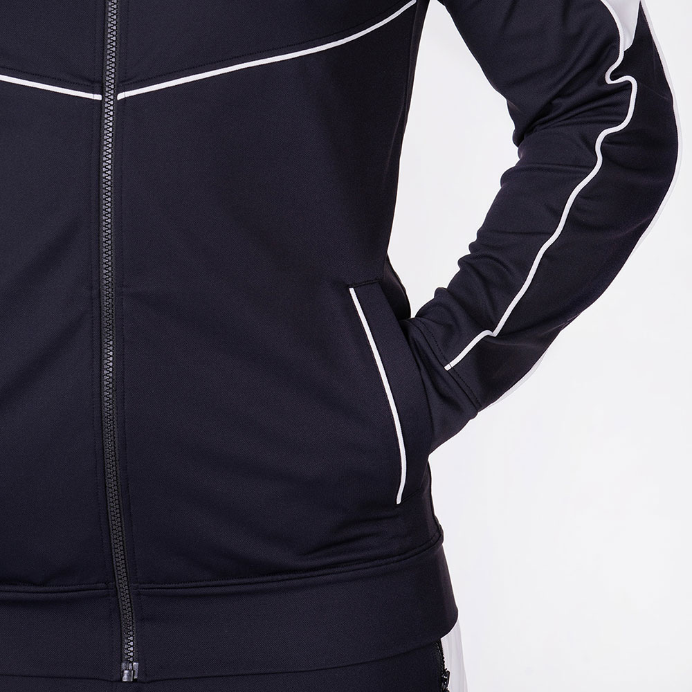 Functional Tracksuit Jacket for Men in Black | Gym Aesthetics