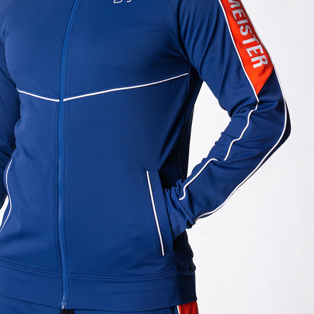 Functional Tracksuit Jacket for Men in Navy | Gym Aesthetics