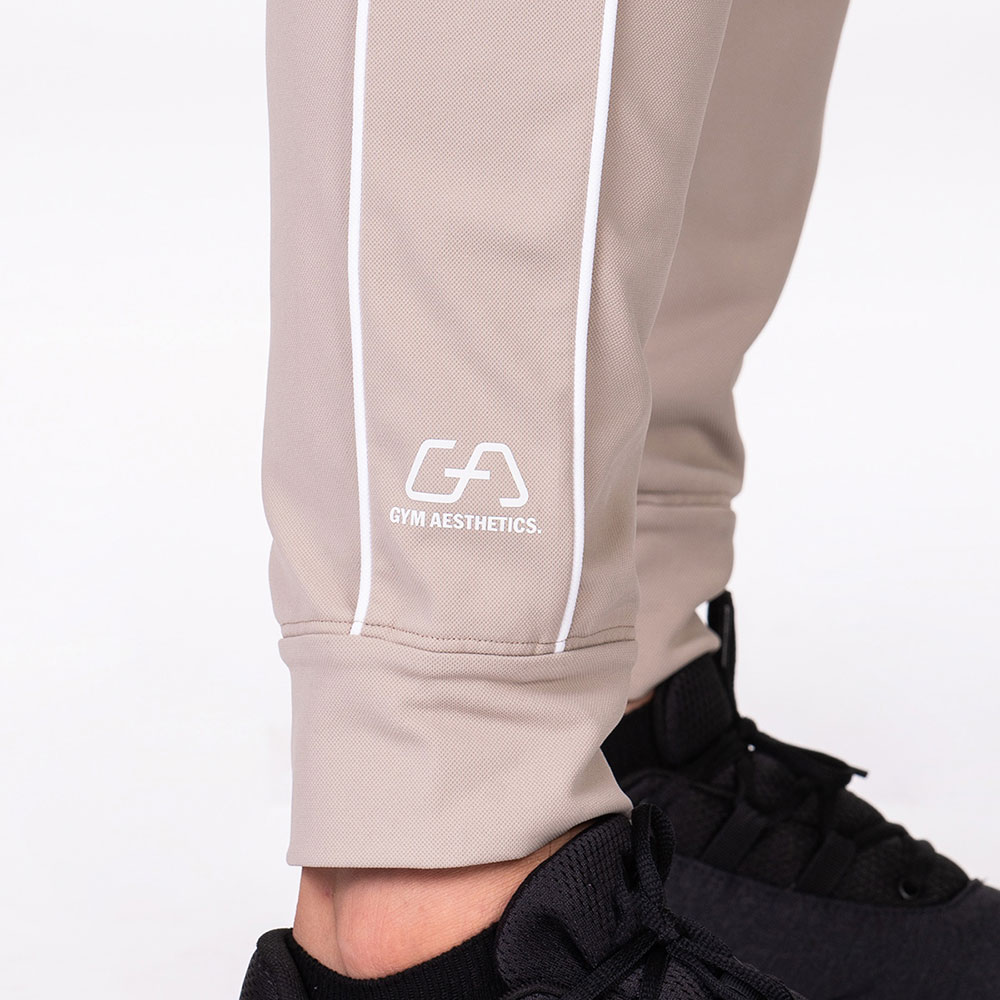 Functional Tracksuit Jogger pants for Men in Beige | Gym Aesthetics
