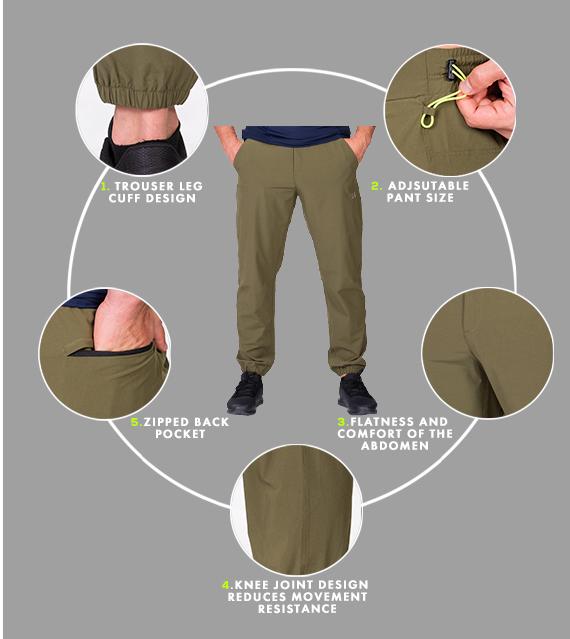 Functional Ergonomics Straight pants for Men in Olive | Gym Aesthetics